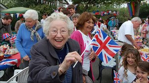 Residents at party in Warlingham