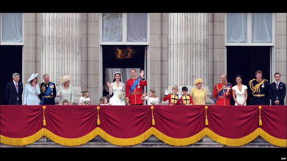 The Royal Family On The Balcony At Buckingham Palace
