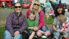 (from left to right) Linda Lee, Sarah Lee Hughes with Jac 20 months, Bethan Parry and Harry Hughes, five