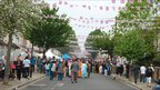 Clarence Street in Southall, west London, hosts a street party