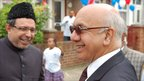 MP for Ealing Southall Virendra Sharma (right) with party-goer