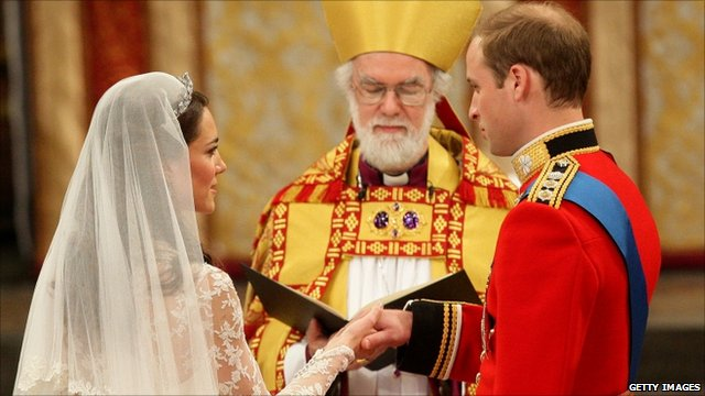 Prince William and Catherine Middleton take their vows