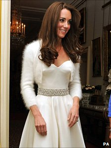 The Duchess of Cambridge in her evening dress