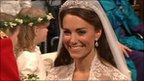 The Duchess of Cambridge walking down the aisle in Westminster Abbey