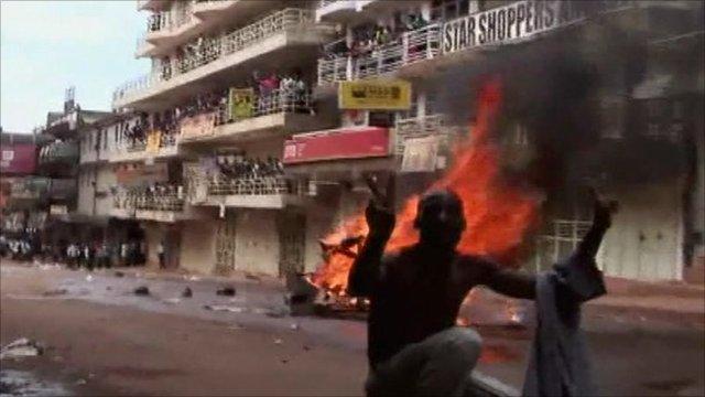 Protester in Kampala
