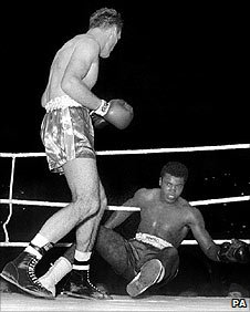 Henry Cooper floors Cassius Clay in 1963
