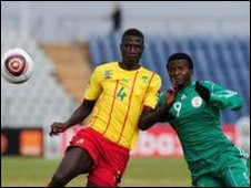 Olanrewaju Kayode (right) and Banana Yaya(left)