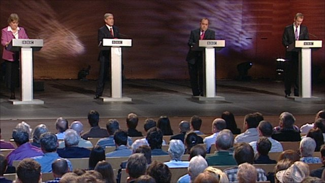 Scottish party leaders at election debate