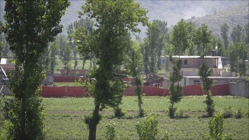 Compound where locals reported a firefight overnight in Abbotabad, 2 May 2011