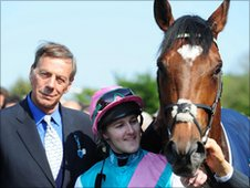 Cecil, Queally and Frankel enjoy their success