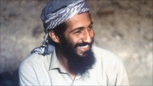 Osama Bin Laden pictured in 1988, as he sits in a cave in the Jalalabad region of Afghanistan