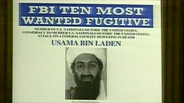 An FBI &#039;Most Wanted&#039; poster for Bin Laden