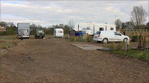 Greenbelt land in the village of Meriden that travellers have applied to develop