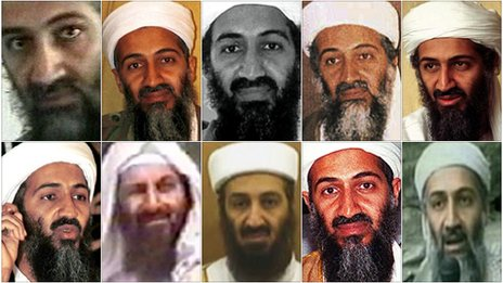 Bin Laden into power. Osama Bin Laden montage