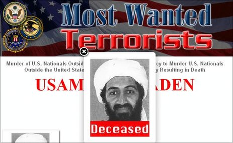 FBI&#039;s Most Wanted website (2 May 2011)