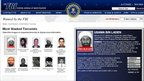 Screen grab from FBI's Most Wanted Terrorists webpage