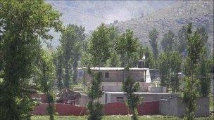 Abbottabad compound where Bin Laden died