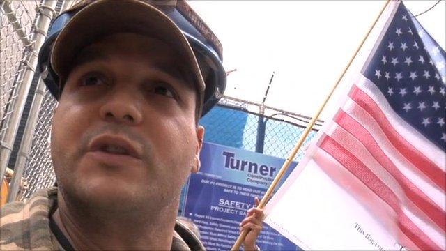 A man at Ground Zero