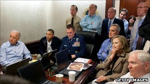 US national security team watch Pakistan operation at the White House (2 May 2011)