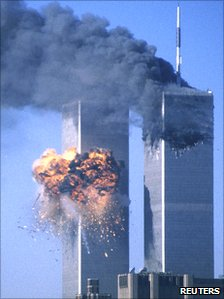 World Trade Center after impact