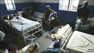 Patients in a hospital in Chiradzulu, Malawi (Archive shot 2005)
