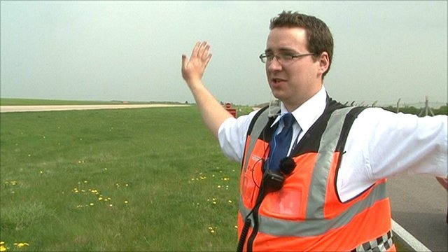 William Fuller at East Midlands Airport