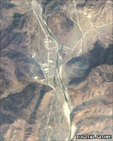 Satellite image of Yodok prison camp taken on 7 April 2011 (Image: Amnesty International/Digital Globe)