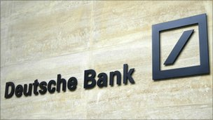Logo on a Deutsche Bank building