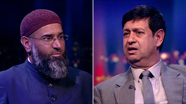 Anjem Choudary (left) and Dr Taj Hargey (right)