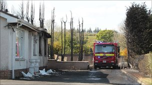 Fire damaged premises 'being used to launder fuel'