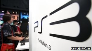 Visitors play games on Sony PlayStation 3