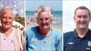 Joan Harper, Monica Hughes and Peter Hughes