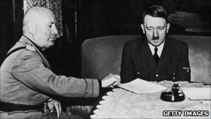 Mussolini and Hitler plan for war