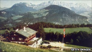 Hitler's mountain retreat in Bavaria, pictured in 1940