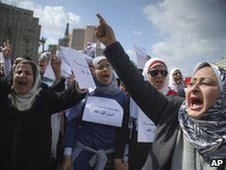 Women demonstrate in Cairo