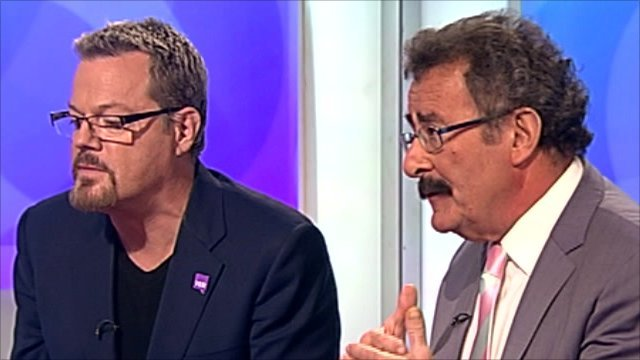Eddie Izzard and Robert Winston