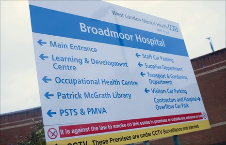 Sign at Broadmoor Hospital