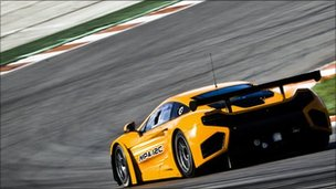 McLaren MP4-12C GT3 racing car
