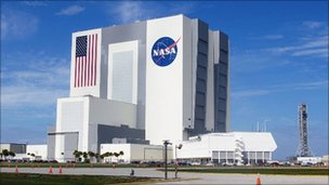 The Kennedy Space Center vehicle assembly building