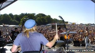View from stage at Ashton Court Festival 2006