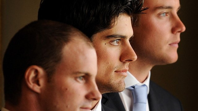 Andrew Strauss, Alastair Cook and Stuart Broad