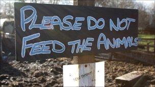 A sign at Hackney City Farm