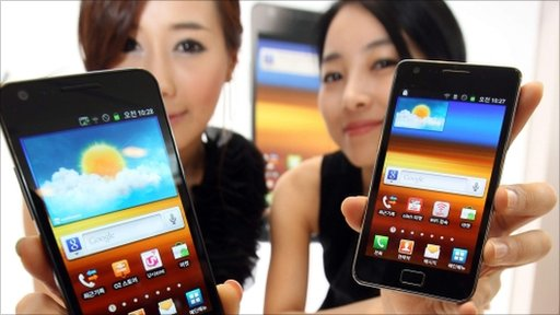 Models introduce Samsung Electronics' Galaxy S II
