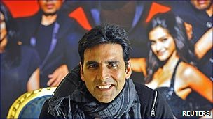 Bollywood actor Akshay Kumar promoting the film