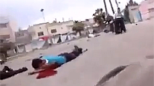Still image from 26 April YouTube video, thought to show a peaceful protest in Deraa