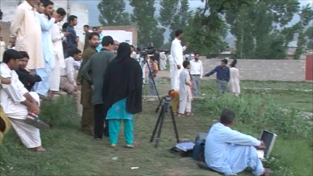 Media at Bin Laden's compound