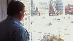 Mark Mardell looks over the Ground Zero site