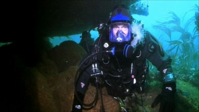 Paul Rose diving the Torrey Canyon wreck
