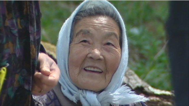 Elderly woman in Japan