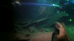 The BBC team believe they are the first film crew to dive the Torrey Canyon wreck